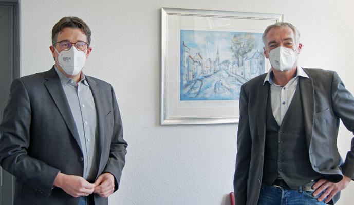 Stadt Neukirchen-Vluyn – Landtagsabgeordneter René Schneider im Rathaus
