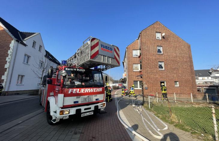 Stadt Kamp-Lintfort – Feuer – Personen in Gefahr