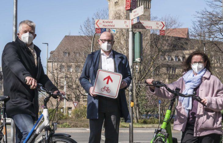 Stadt Duisburg – Radwegenetz in Duisburg: Neue Schilder für neue Touren
