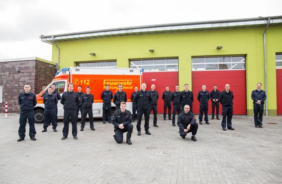 Stadt Moers – Feuerwehrmänner vom gesamten Niederrhein in Moers ausgebildet