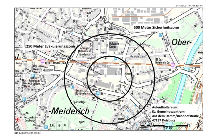 Stadt Duisburg – Duisburg Meiderich: Amerikanische Fünf-Zentner-Bombe gefunden