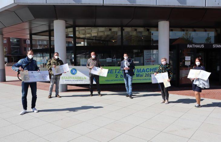 """Stadt Kamp-Lintfort – Preisverleihung der Aktion """"Stadtradeln 2020"""""""
