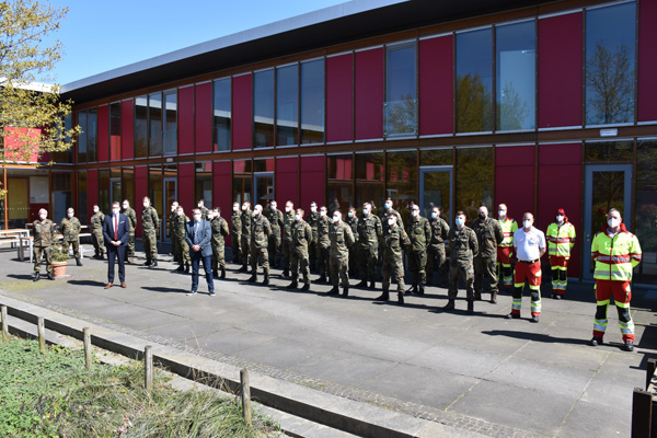 Kreis Wesel – Soldatinnen und Soldaten unterstützen Testungen in Pflegeheimen