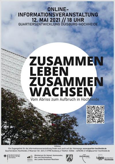Stadt Duisburg – Digitalevent informiert am 12. Mai über integriertes städtebauliches Entwicklungskonzept für Duisburg-Hochheide