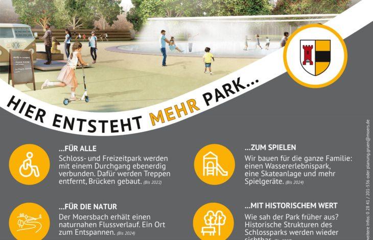 Stadt Moers – In Moers entsteht 'mehr' Park: Vier Projekte laufen bis 2027