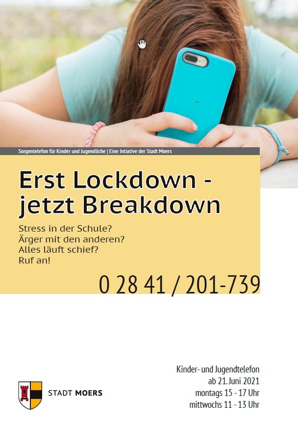 Stadt Moers – Kommt nach dem Lockdown der Breakdown? Sorgentelefon soll helfen