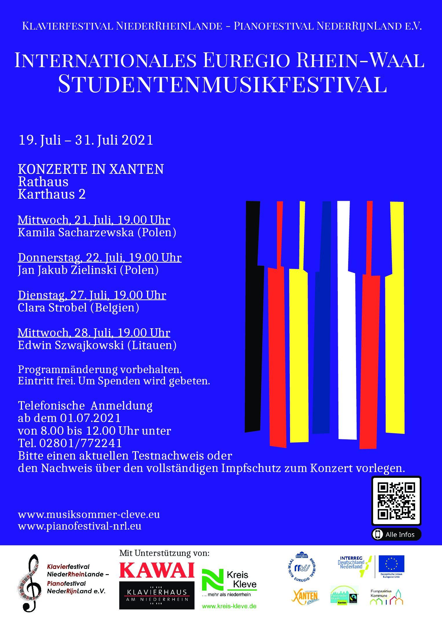 Stadt Xanten  – Vier Konzerte im Rahmen des Studentenfestivals