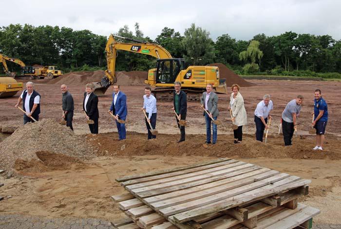 Stadt Moers – Bau des Sportparks Asberg hat begonnen