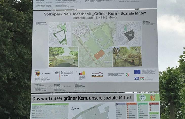 Stadt Moers – Neu_Meerbeck: Baustellenschild wird zur Infotafel