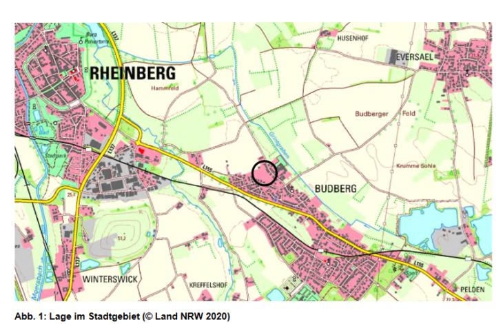 Stadt Rheinberg – BEBAUUNGSPLAN NR. 14 – EVERSAELER STRASSE / KRÄHENKAMP IN BUDBERG