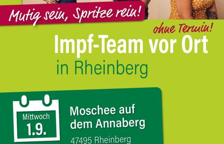 Stadt Rheinberg – KREISWEITE IMPFAKTION – IMPF-TEAM VOR ORT