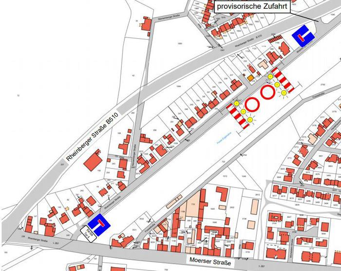 Stadt Kamp-Lintfort –  Die Rheinberger Straße wird zur Sackgasse