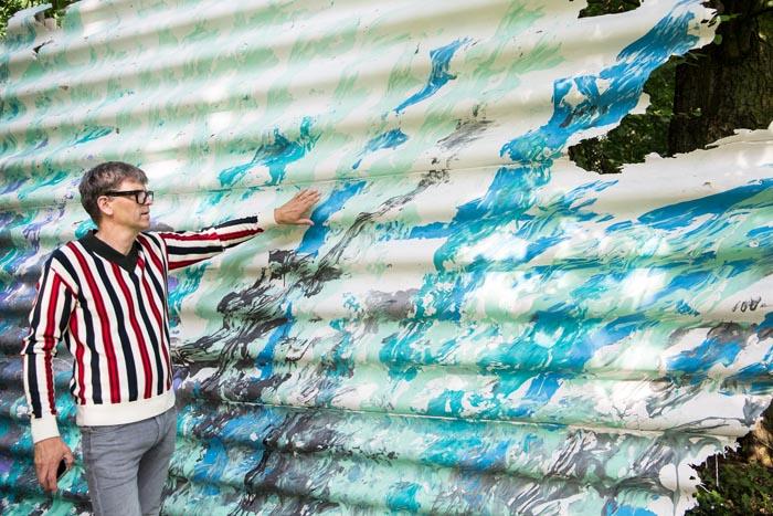 Stadt Moers – Wie Fingerfarbe für Erwachsene: Neues Kunstwerk auf der Kulturinsel