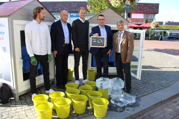 Stadt Kamp-Lintfort – Eisblockwette in Kamp-Lintfort erfolgreich beendet