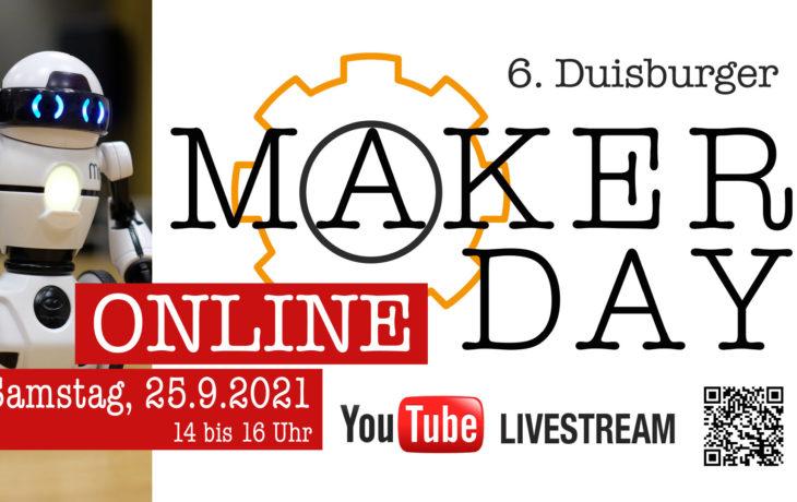 "Stadt Duisburg – Der 6. Duisburger ""Maker Day"" findet online statt"